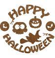 Halloween logo vector image