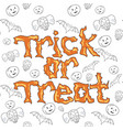 trick or treat background vector image