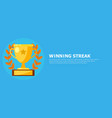 winning streak banner cup medal with a star vector image