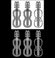 violin black and white stroke vector image