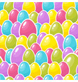 easter colorful eggs background seamless pattern vector image