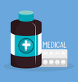 medical elements set icons vector image