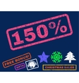 150 Percent Rubber Stamp vector image vector image