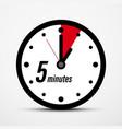 5 five minutes clock symbol vector image vector image