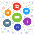 7 logistic icons vector image vector image