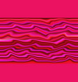 abstract psychedelic pink zigzag lines background vector image vector image
