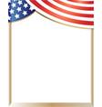 american flag border vector image vector image