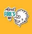 april fools day sticker vector image