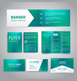 banner flyers brochure business cards vector image vector image