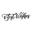 best wishes hand lettering text vector image
