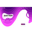black friday - landing page and website background vector image vector image