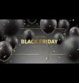 black friday sale web banner vector image vector image