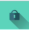 Blue padlock icon Flat design vector image