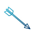bow arrow symbol vector image vector image