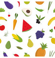 bright colored seamless pattern with fruits and vector image vector image