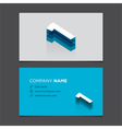 business card number 1 vector image vector image