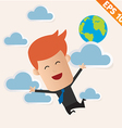 Business man fly on the sky - - EPS10 vector image
