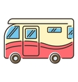 Camper van icon flat style vector image