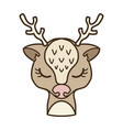 Cartoon christmas deer design element for logo