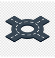 circular interchange isometric icon vector image
