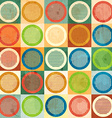 colored circle seamless pattern with grunge effect vector image vector image