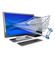 computer shopping concept vector image
