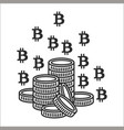 concept of miner bitcoin vector image vector image