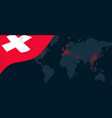 corona virus covid-19 pandemic outbreak world map vector image vector image