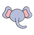 cute and tender elephant head character vector image