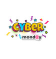 cyber monday advertisement comic text pop art vector image
