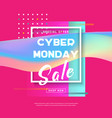 cyber monday concept sale banner vector image vector image
