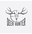 deer skull with target design template vector image vector image