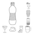 design of drink and bar icon collection of vector image