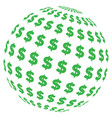 dollar abstract sphere vector image