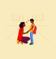education motherhood childhood care school vector image