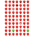 emoticons strawberry vector image