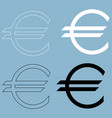 euro symbol the black and white color icon vector image vector image