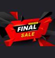 final sale inscription design template black vector image