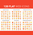 flat web icons vector image vector image