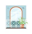 fragment building facade with comfy balcony vector image vector image