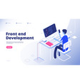 front end development developer programmer person vector image