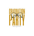graduation party lettering for graduation class vector image vector image