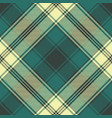 green classic plaid seamless pattern vector image vector image