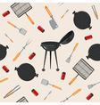 Grill Barbecue Seamless Pattern vector image