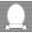 hand drawn frame on black and white background vector image vector image
