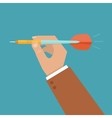 hand holding dart vector image