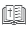 holy bible line icon religion and book book with vector image