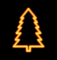 icon glowing christmas tree vector image vector image
