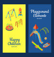 isometric playground objects web banners vector image vector image