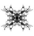 leafless branch mandala vector image vector image